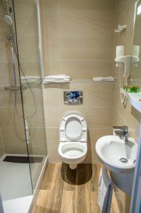 Photo finale de la salle de bains conçue sur le logiciel 3D