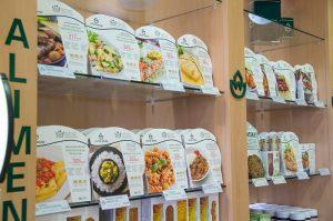 Plats cuisinés Micro ondulables  et diététiques.