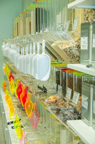 Choix de produits en vrac sans déchets