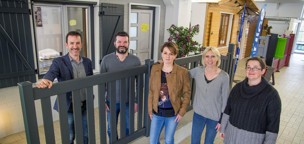 De gauche à droite: Hervé , Nicolas et Claire Huynen , Corinne Luc et Brigitte Robert.