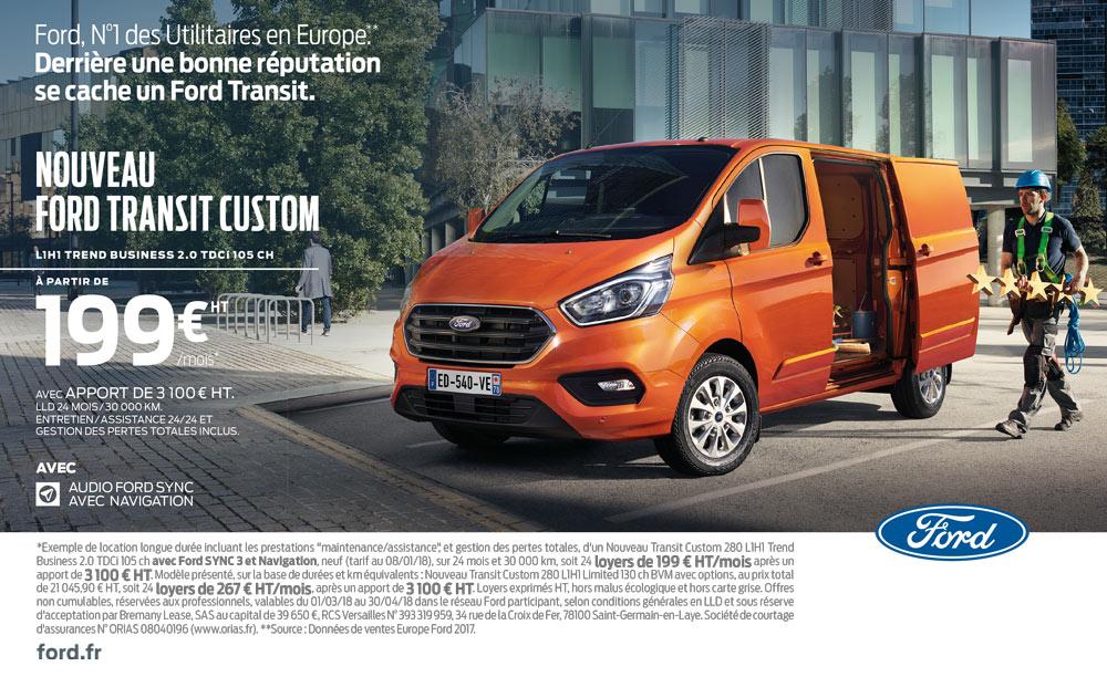 Nouveau Ford Transit concession JM Auto à Belleville sur Meuse