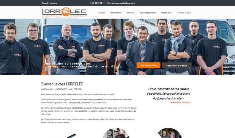 Refonte complète du site internet de Lorrelec, électricien de Belleville sur Meuse