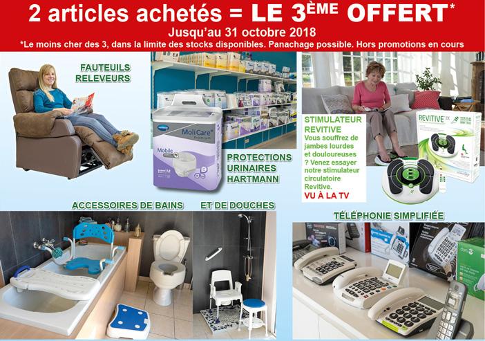 Promotions pour les 20 ans de Médicale Service 55 Verdun : 2 achetés = le troisième offert