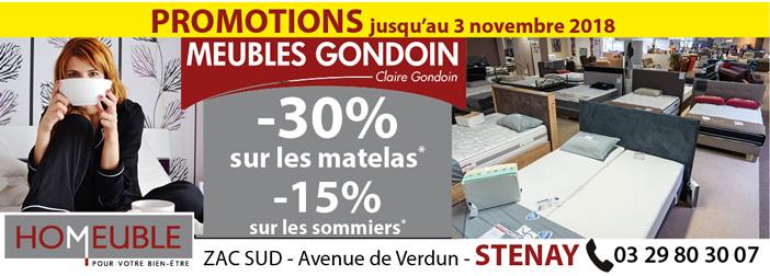 Promotion literie chez Meubles Godoin à Stenay