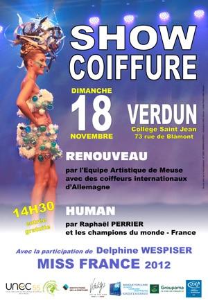 Affiche du show coiffure du 18 novembre à Verdun