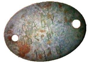 Plaque Poilu Joseph Cady