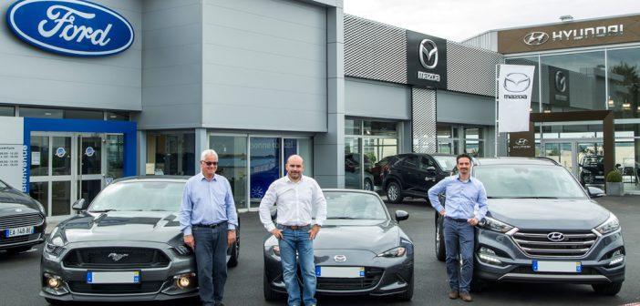 Equipe JM Automobiles : De gauche à droite : José, Stéphane et Fabien Moretto.