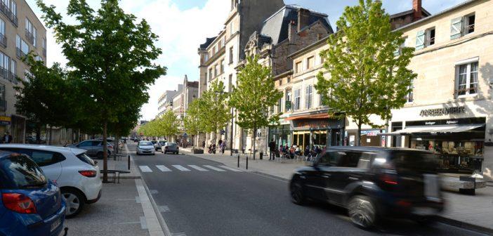 Centre-ville de Bar-le-Duc en Meuse
