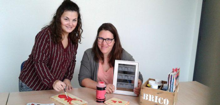 Emeline Perrin (UCIA de Bar-le-Duc) et Mélanie Fagot (Com. d'Agglomération) ont travaillé de concert à l'organisation de ce 1er salon du DIY