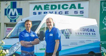 Jacques De Magalhaes et Bruno Gilot de chez Médical Service 55