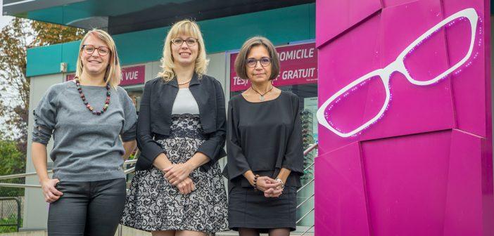 Angélique Cailly et Claire Léonard réunie chez Passion Opticien à Dieue sur Meuse