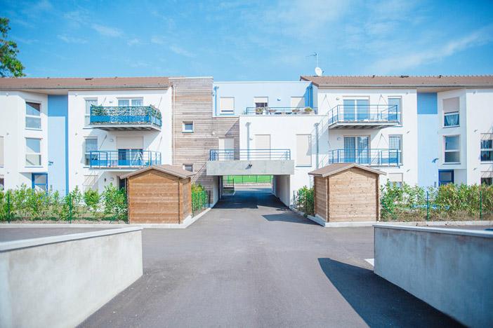 Verdun, rue du Fort de Vaux, 14 logements collectifs en front de rue • Construction 2014