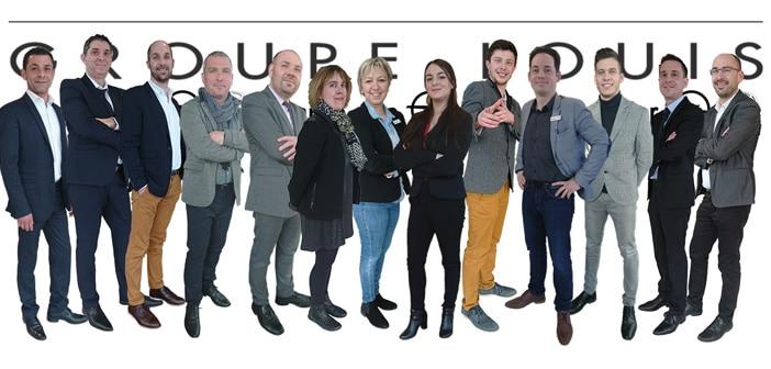 Equipe du groupe Louis concessionnaires en Meuse