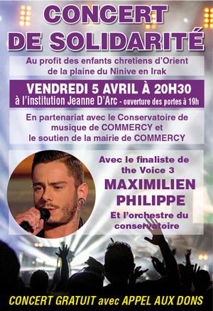 Concert de solidarité à Commercy en Meuse