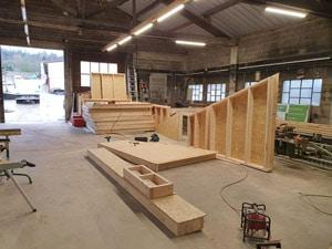 Atelier de construction ossature bois à Bar le Duc en meuse