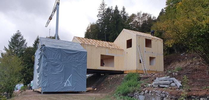 Chantier de construction bois à Gerardmer