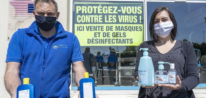 Masques et gel hydroalcoolique à Verdun en Meuse